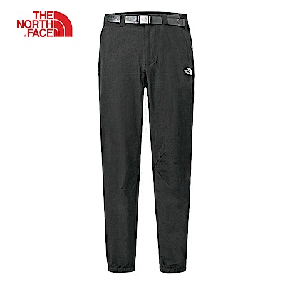 The North Face北面男款黑色吸濕快乾休閒長褲 3GD6JK3