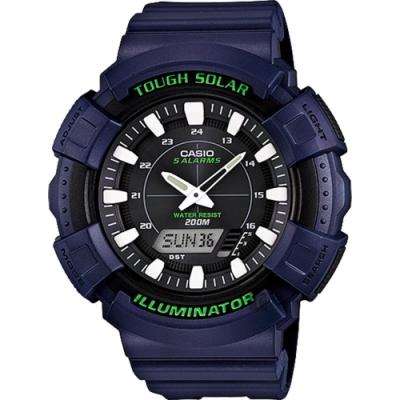 CASIO 卡西歐 太陽能電力手錶-海軍藍(AD-S800WH-2A)