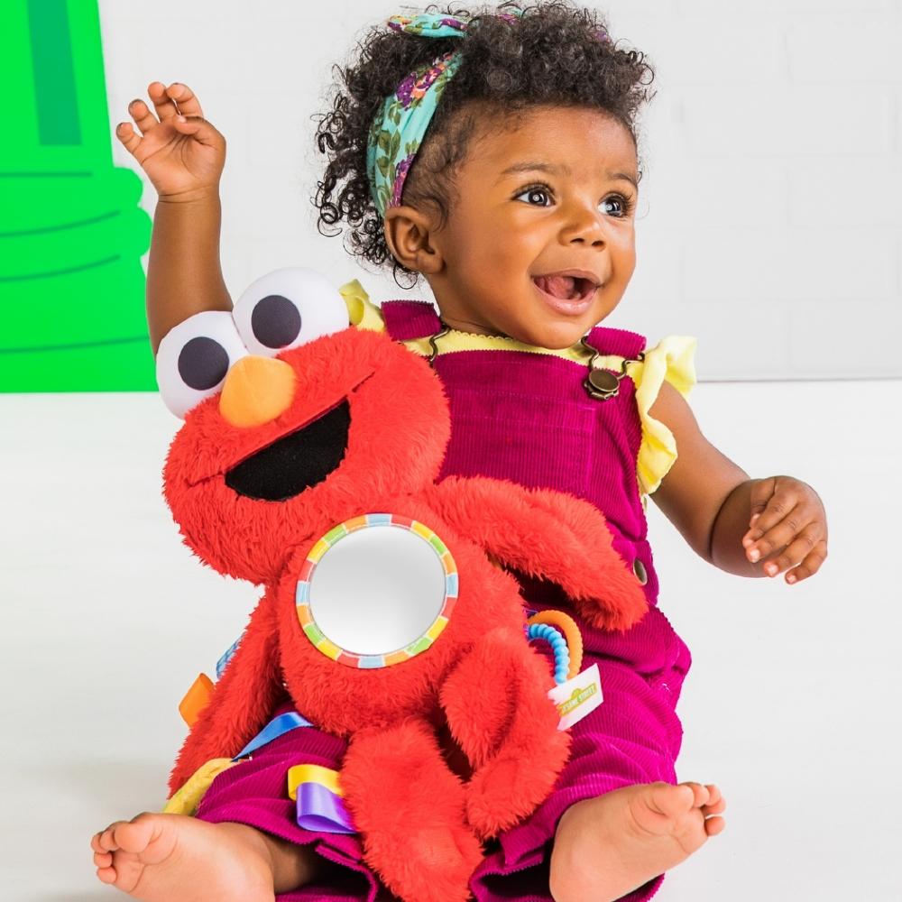 【美國Kids II / Sesame Street】芝麻街安撫布偶/旅遊夥伴-艾蒙(Elmo)