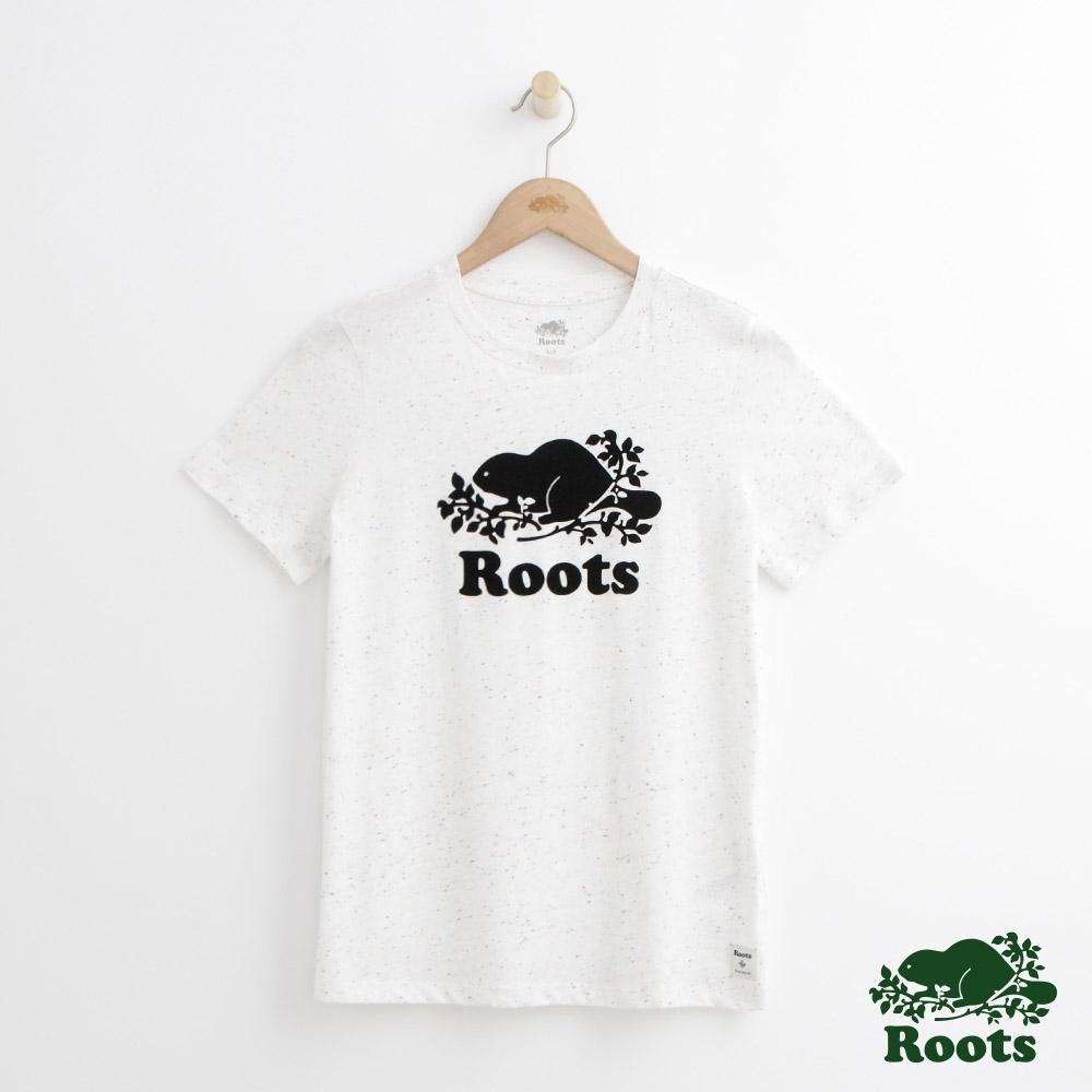 女裝Roots-經典庫柏T恤-米白