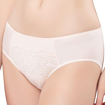 思薇爾 花漾系列M-XXL蕾絲中腰三角內褲(柔和膚)