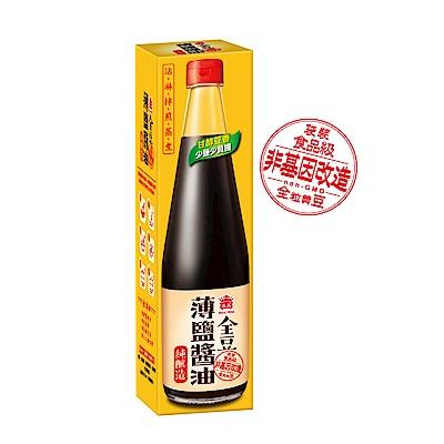 義美全豆純釀造薄鹽醬油520ml