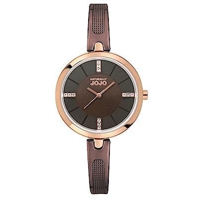NATURALLY JOJO 幸福雙重奏腕錶-咖啡金/30mm