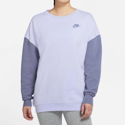NIKE 上衣  大學T 長袖上衣 運動 慢跑 訓練 女款 藍紫 DJ6946545 AS W NSW CREW FLC PASTEL