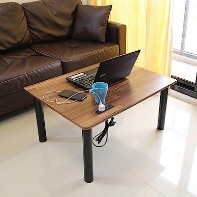 BuyJM拼接木低甲醛附插座鐵腳和室電腦桌80*60公分-DIY