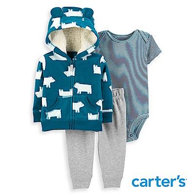 Carter's 北極熊造型3件組套裝