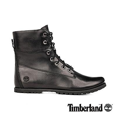 Timberland 女款黑色全粒面皮革Joslin高筒休閒靴