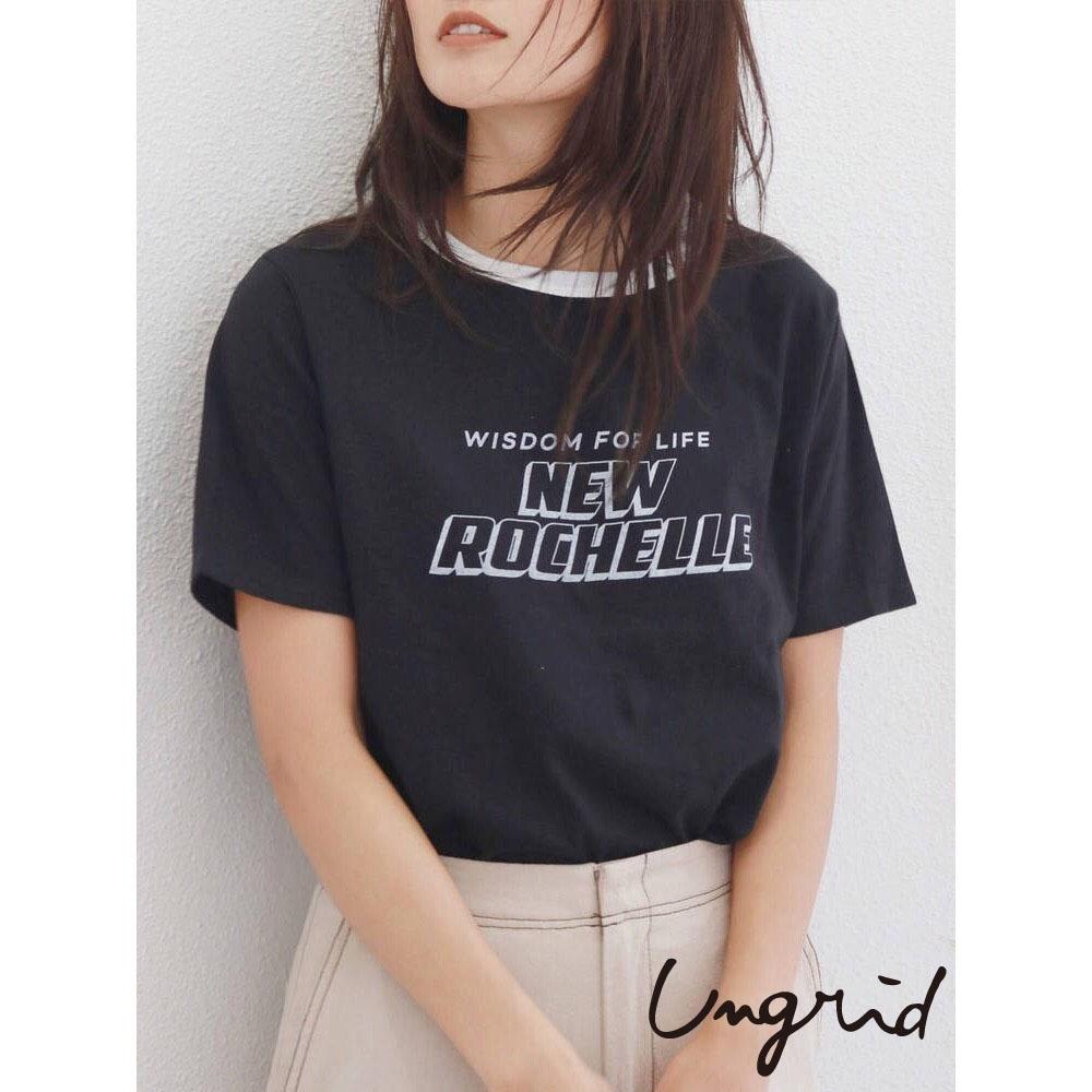Ungrid 滾邊經典款標語T-shirt(3色)