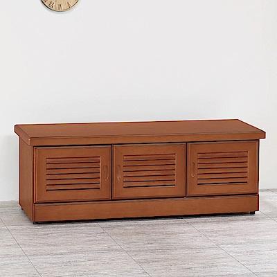 AS-艾德森樟木色4尺坐鞋櫃-121x39.7x44.5cm
