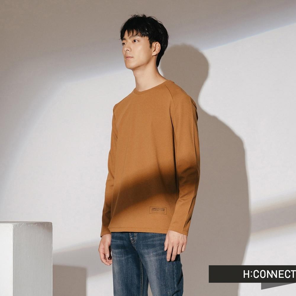 H:CONNECT 韓國品牌 男裝-休閒純棉長袖上衣-黃