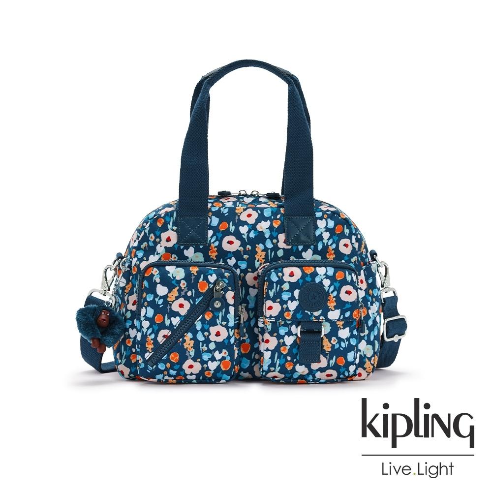 Kipling 牧場彩繪風格多層實用手提側背包-DEFEA
