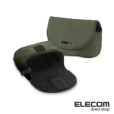 ELECOM normas絨布內裡相機收納包-綠