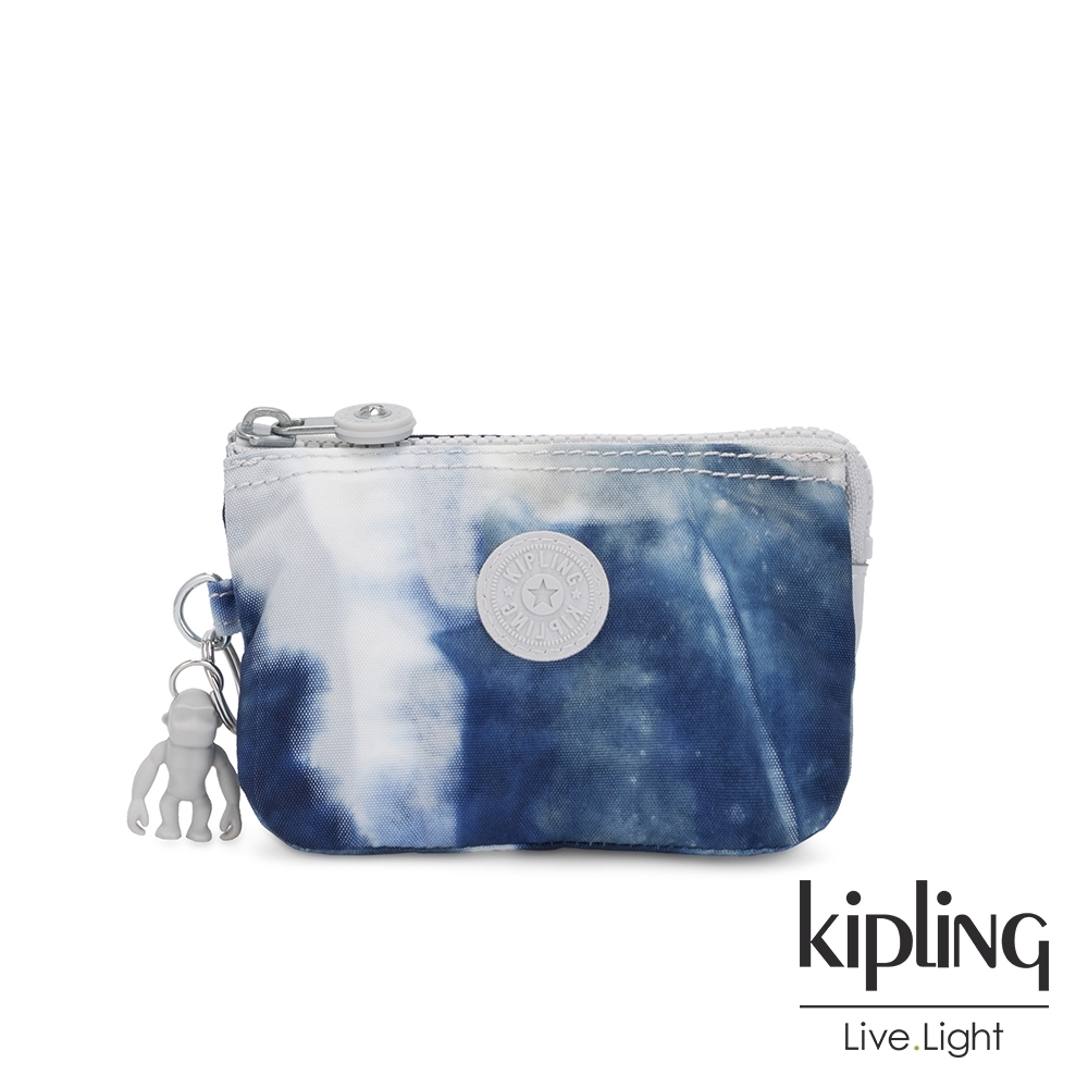 Kipling 率性渲染藍三夾層配件包-CREATIVITY S