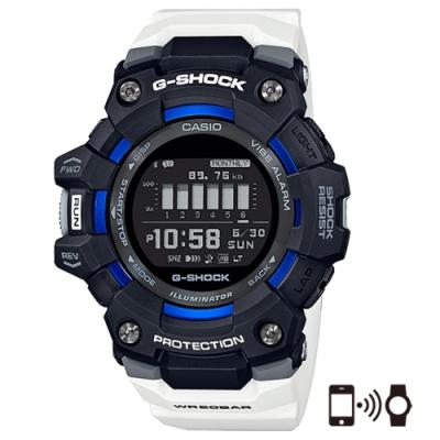 CASIO 卡西歐G-SHOCK 智慧手機藍牙連線跑步系列G-SQUAD耐衝擊運動手錶(GBD-100-1A7)