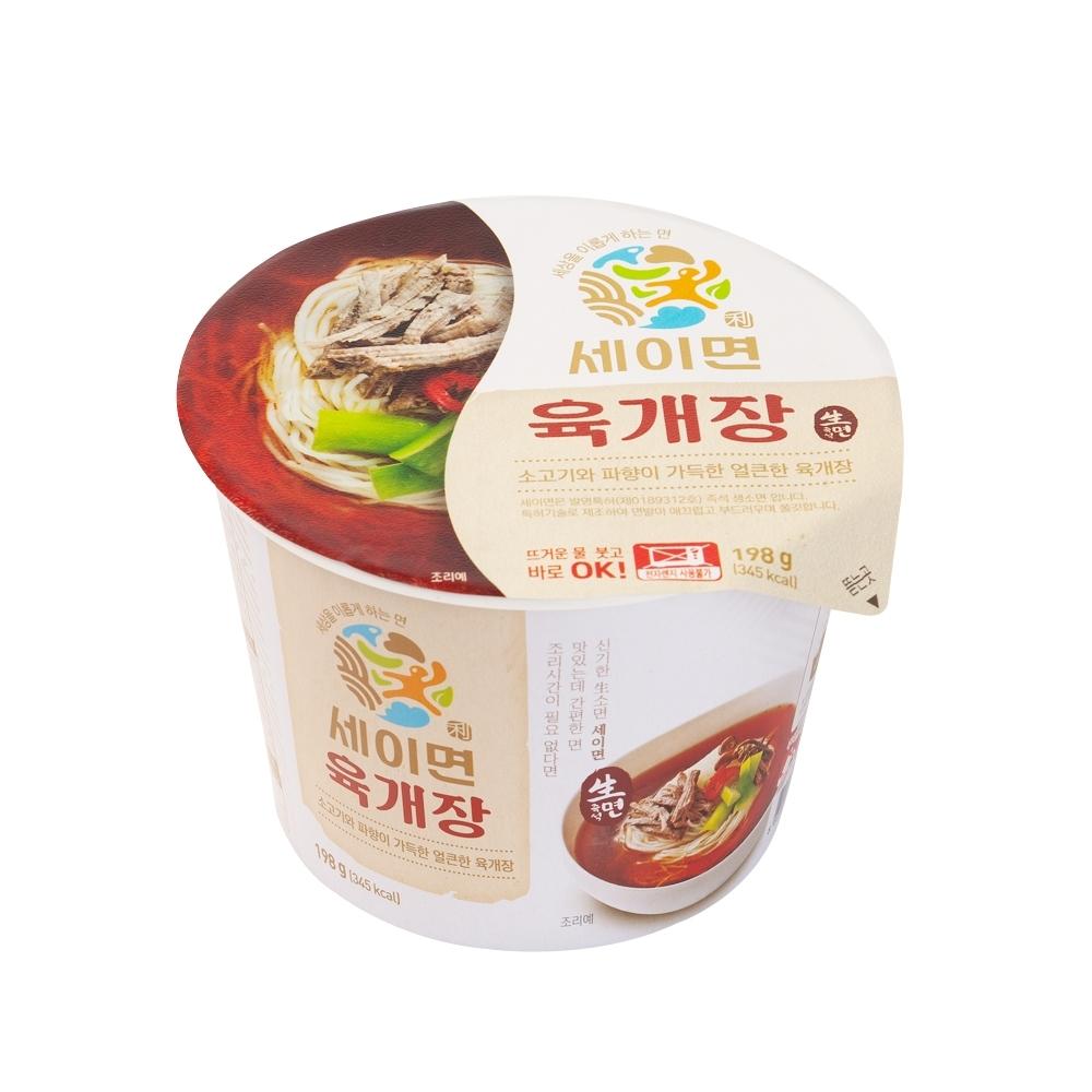 韓味不二【韓國原裝】即食(生麵)辣牛肉湯(198g)