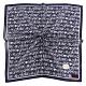 CLATHAS經典燙金LOGO滿版字母帕巾-深藍色 product thumbnail 1