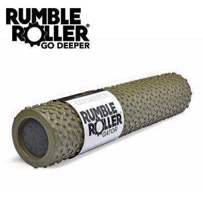 【Rumble Roller】揉壓按摩滾輪 狼牙棒 Gator 鱷皮系列 56cm(瑜珈柱 按摩滾筒 筋膜放鬆 瑜珈滾筒)
