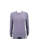 Andre Maurice 喀什米爾紫色麻花織紋羊毛衫