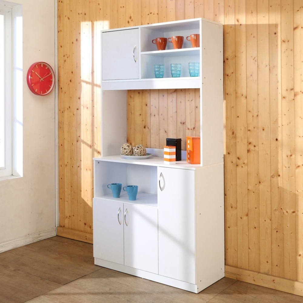 BuyJM 低甲醛防潑水雙層高廚房櫃/電器櫃90x40x180公分