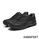 HANNFORT TORNADO透氣編織熔斷氣墊戶外鞋-男-曜岩黑