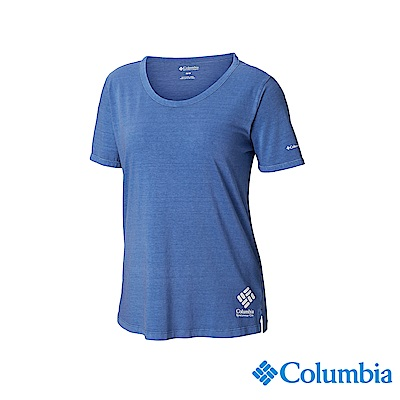 Columbia 哥倫比亞 女款-純棉短袖上衣-墨藍 UAL25600IB