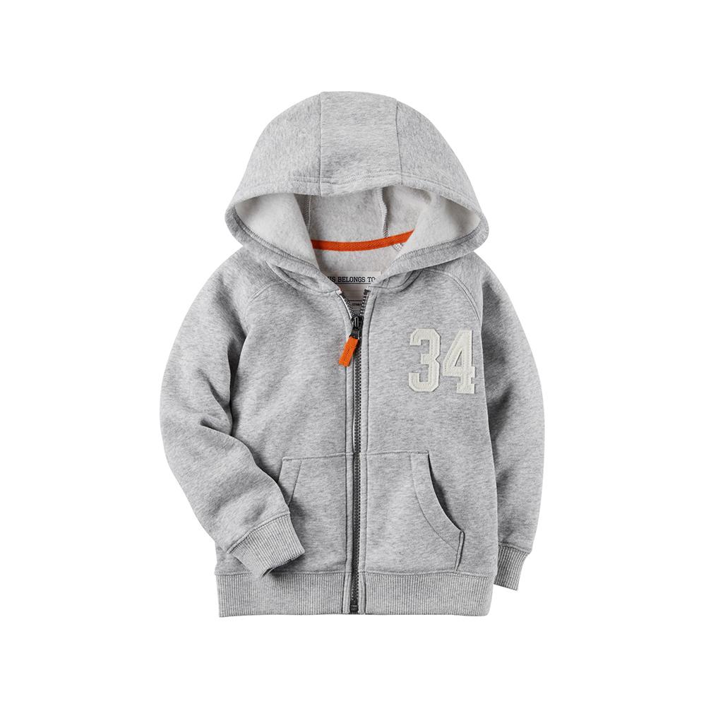 【Carter's】 經典灰色數字連帽外套 (台灣總代理)