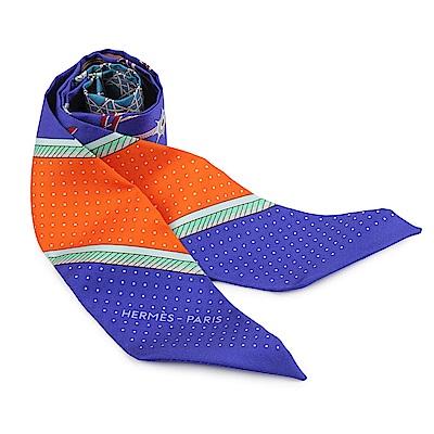 HERMES Classic Twilly絲巾領結-紫色-一組