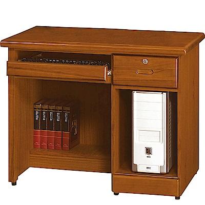 綠活居 米哥斯3.2尺實木書桌/電腦桌(二色可選)-96.5x59x76cm-免組
