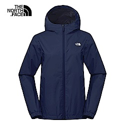 The North Face北面女款藍色防水透氣連帽衝鋒衣|3L8LH2G