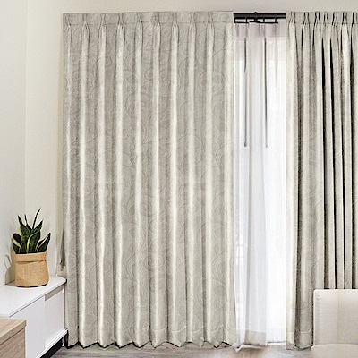 北歐精緻典雅柔紗窗簾130X180cm (2入) (兩款)
