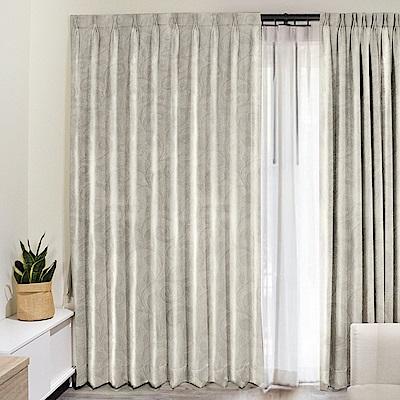 北歐精緻典雅柔紗窗簾130X210cm (2入) (兩款)