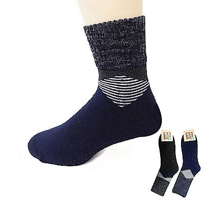 本之豐 男性加大尺碼短統保暖禦寒全毛巾厚底止滑毛襪-12雙