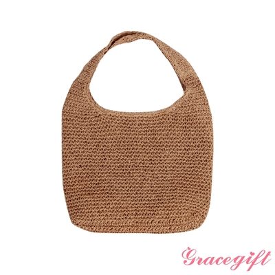 Grace gift-文青麻繩編織包 棕