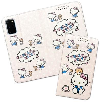 三麗鷗授權 Hello Kitty貓 三星 Samsung Galaxy S20+ 粉嫩系列彩繪磁力皮套(小熊)