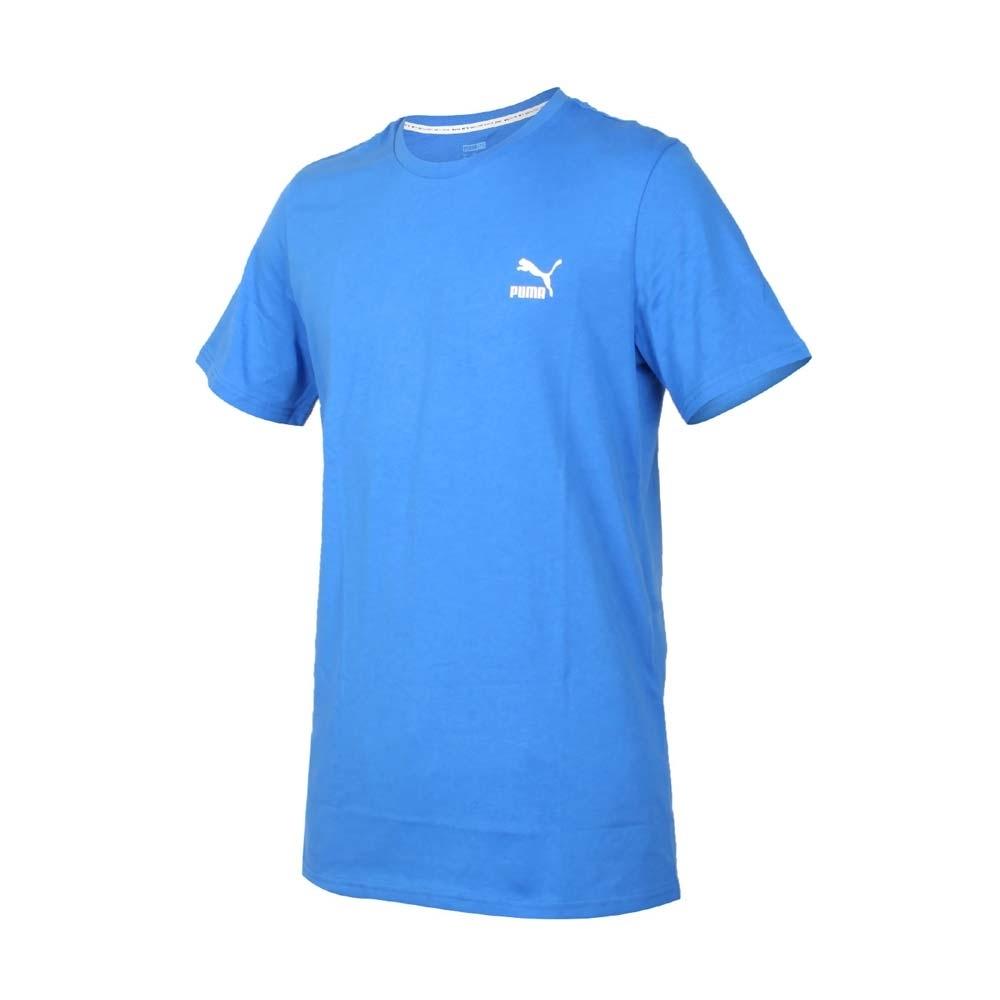 PUMA 男流行系列短袖T恤-純棉 歐規 休閒 上衣 慢跑 59862741 寶藍白紅