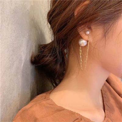梨花HaNA 日本IG網紅珍珠設計師金鏈條造型耳環