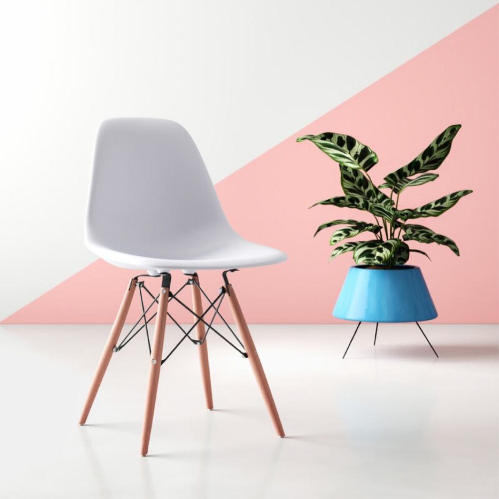 時時樂限定 E-home EMS北歐經典造型餐椅 白色