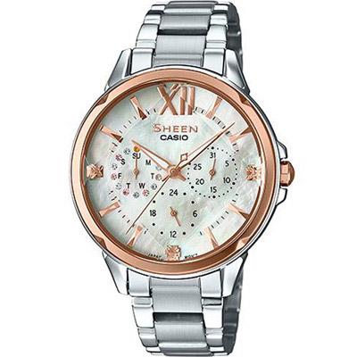 SHEEN 小幸運時尚指針錶(SHE-3056SG-7A)白/37.1mm
