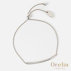 Orelia 英國倫敦 經典簡約水晶鍍銀可調式手鍊