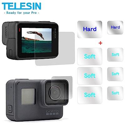 TELESIN gopro Hero5 6 螢幕硬式鋼化膜+鏡頭硬式鋼化膜
