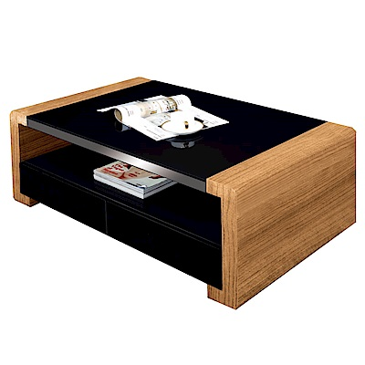 文創集 威廉時尚3.3尺玻璃大茶几-100x60x45cm免組