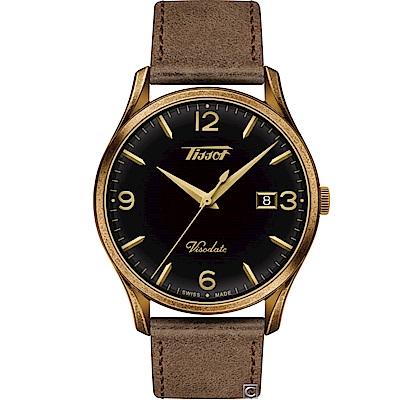 TISSOT天梭HERITAGE VISODATE復刻腕錶(T1184103605700)