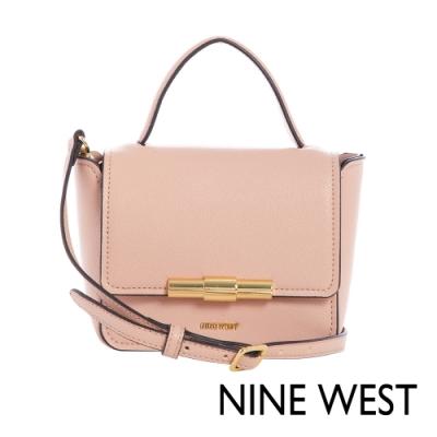 NINE WEST HOLLIS掀蓋式金屬釦方型MINI手提包-玫瑰粉(116678)