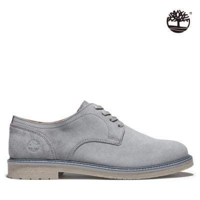 Timberland 男款中階灰Oakrock LT絨面皮革牛津鞋|A3ZZ9