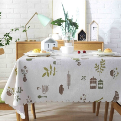 BUNNY LIFE 北歐風PVC防水防油桌巾/桌墊-田園餐廚 (135x180cm)