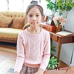 Annys可愛甜美小珍珠立體蝴蝶結針織毛衣*7638粉