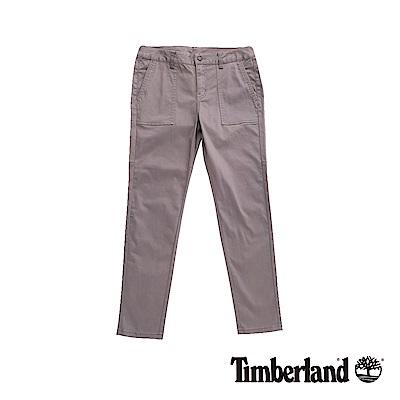 Timberland 女款瀝青灰超彈力修身休閒長褲|B2204