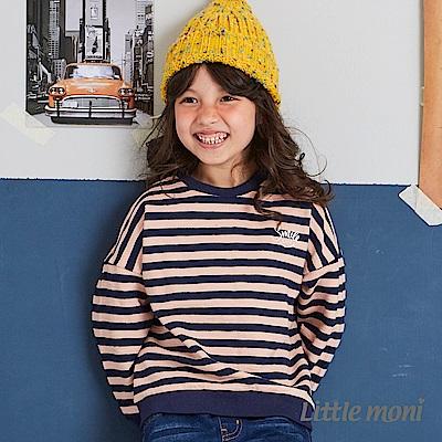 Little moni 條紋寬版上衣