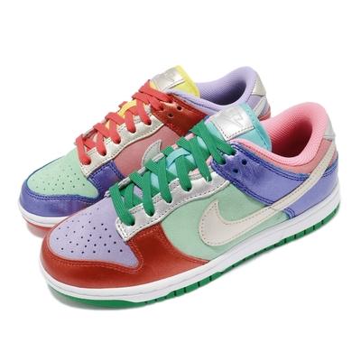 Nike 休閒鞋 Dunk Low SE 運動 女鞋 經典款 皮革 質感 球鞋 鴛鴦 穿搭 彩 白 DN0855600