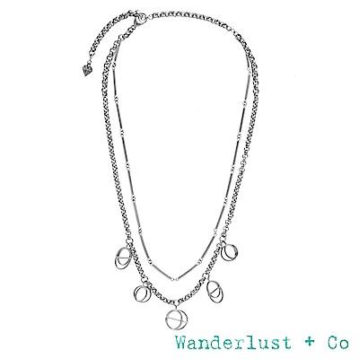 Wanderlust+Co INFUSION系列 星軌鍍Rhodium雙層次項鍊